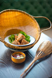 泰国食物进入 免版税图库摄影