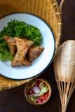 泰国食物进入 库存照片