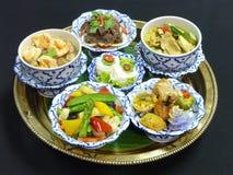 泰国食物集合菜单 免版税库存图片