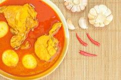 泰国食物鸡咖喱(Mussaman咖喱) 免版税库存图片