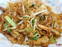 泰国食物鸡面条 库存照片