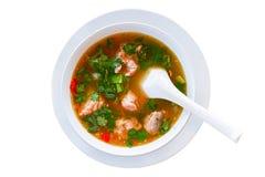 泰国食物,汤姆Zab 免版税库存图片