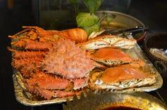 泰国食物-在板材的螃蟹 免版税库存照片