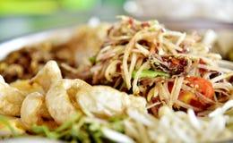 泰国食物 沙拉 免版税库存图片