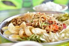 泰国食物 沙拉 免版税图库摄影