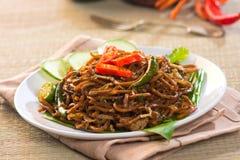 泰国食物;油煎的辣 免版税图库摄影
