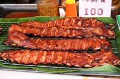 泰国食物-猪肉 图库摄影