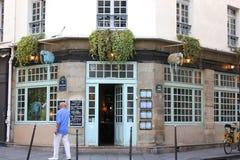 泰国餐馆在巴黎,法国马瑞斯地区  免版税图库摄影