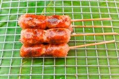 泰国香肠 免版税库存照片