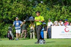 泰国高尔夫球冠军的通猜Jaidee 2015年 免版税库存图片