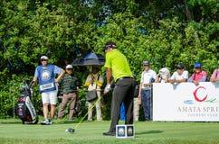 泰国高尔夫球冠军的通猜Jaidee 2015年 免版税库存照片