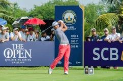 泰国高尔夫球冠军的Sunghoon康2015年 图库摄影