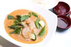 泰国鸡咖喱红色的样式 库存照片