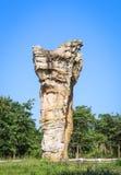 泰国,平均观测距离在泰国Chaiyaphum的省的Hin Khao的巨石阵 免版税库存图片