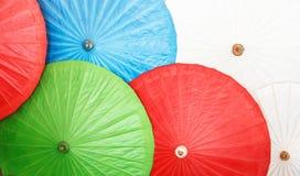 泰国,清迈,手画泰国伞 免版税库存照片