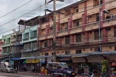 泰国,芭达亚,芭达亚25,06,2017条街道有巨大数字的 免版税库存照片