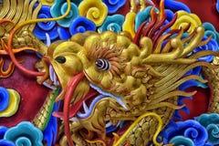 泰国,芭达亚, 27,06,2017Beautiful中国龙sculptu 免版税图库摄影