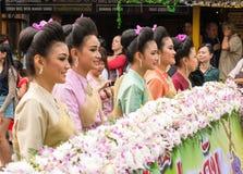 泰国,花节日 图库摄影