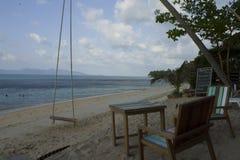 泰国,酸值苏梅岛海滩 库存照片