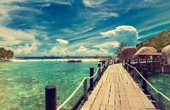 泰国,酸值Nang元海岛 海滩视图 免版税图库摄影