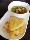 泰国,食物,油煎绿色咖喱的鸡用椰奶和 免版税图库摄影