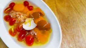 泰国,鸡蛋,果皮,动物壳,煮沸了 免版税库存图片