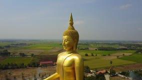 泰国,从天空寄生虫飞行徒升的空中场面的大菩萨 股票视频