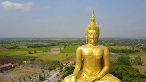 泰国,从天空寄生虫飞行幻灯片权利的空中场面的大菩萨 影视素材