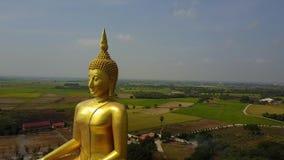 泰国,从天空今后寄生虫飞行的空中场面的大菩萨 股票视频