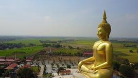 泰国,从天空今后寄生虫飞行的空中场面的大菩萨 影视素材