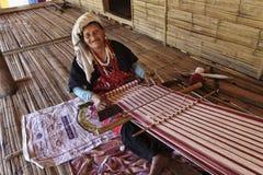 泰国, Chiang Mai,卡伦长的脖子村庄 免版税库存照片
