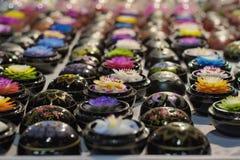 泰国, Chiang Mai,用肥皂擦洗现有量制作与vari 免版税库存照片