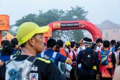 泰国, Khaoyai - 2016年10月2日,足迹系列老虎香脂2016年  它是足迹在khaoyai的赛跑者事件在泰国 免版税库存图片