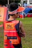 泰国, Khaoyai - 2016年10月2日,足迹系列老虎香脂2016年  它是足迹在khaoyai的赛跑者事件在泰国 免版税库存照片