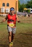 泰国, Khaoyai - 2016年10月2日,足迹系列老虎香脂2016年  它是足迹在khaoyai的赛跑者事件在泰国 库存照片