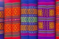 泰国织品枕头 免版税库存照片