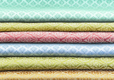 泰国织品 免版税图库摄影