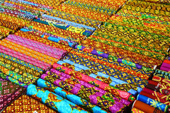 泰国织品 免版税库存图片