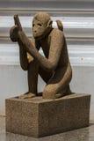 泰国猴子的雕塑 免版税库存图片