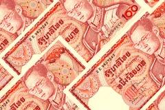 泰国货币背景 免版税库存图片