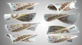 泰国货币1000泰铢 库存照片