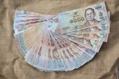 泰国货币1000泰铢 库存图片