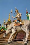 泰国- 2013年3月:希瓦雕象公牛的 免版税库存照片