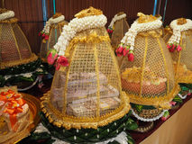 泰国仪式的订婚碗 库存图片