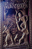 泰国2017年8月6日,在一个寺庙在乌隆他尼 雕塑, p 库存图片