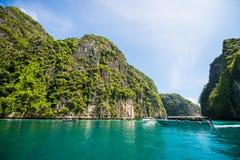 泰国- 2017年4月31日: :洪海岛-美好的地方在Krab 免版税库存照片
