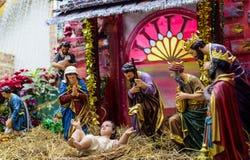 泰国-玛丽亚12月3, 室外诞生场面人生siz 免版税库存图片