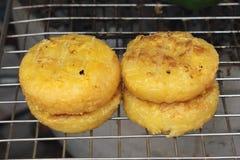 泰国黏米饭烤地方食物 免版税库存图片