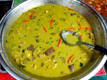泰国绿色咖喱曼谷,泰国 库存图片