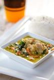 泰国绿色咖喱用猪肉用米 库存图片